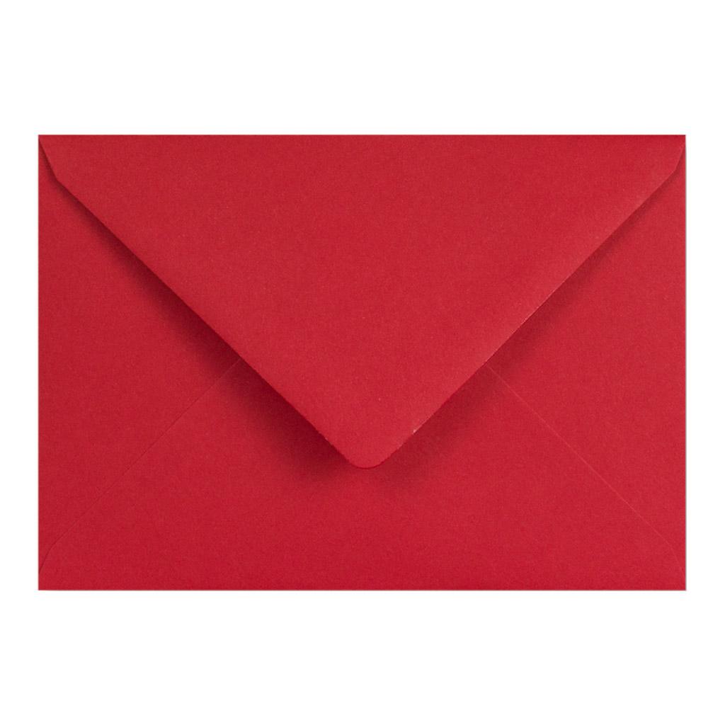 Obálky C6 obyčajné / 5 ks - tmavočervená