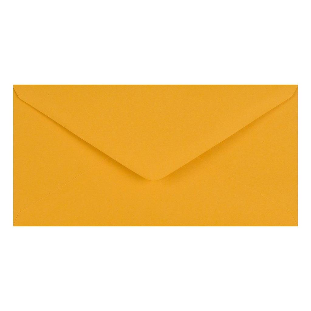 Obálky DL obyčajné / 5 ks - zlatožltá