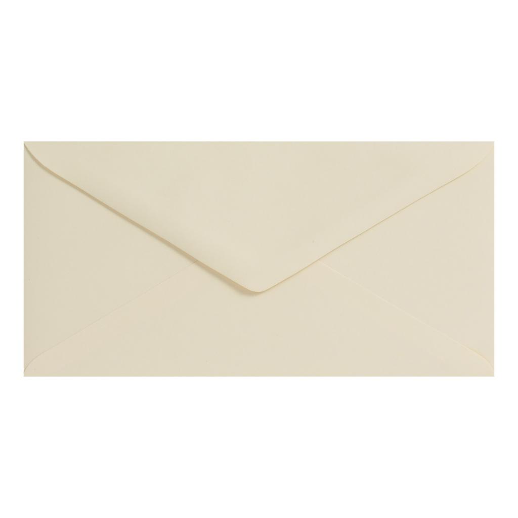 Obálky DL obyčajné / 5 ks - krémová