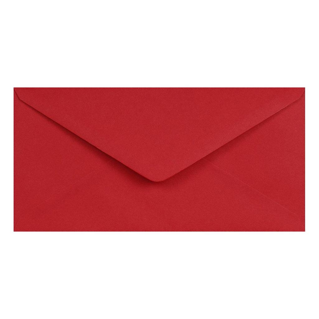 Obálky DL obyčajné / 5 ks - tmavočervená