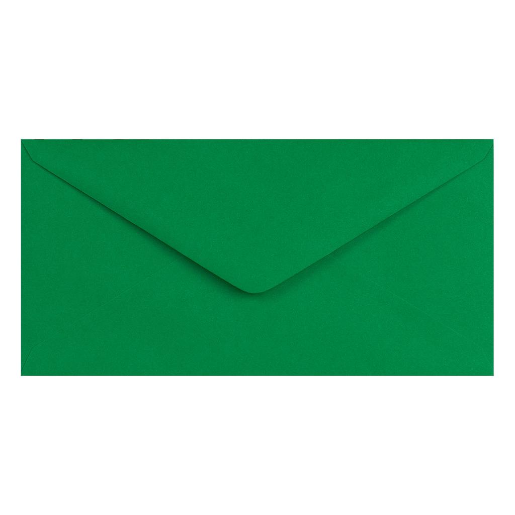 Obálky DL obyčajné / 5 ks - vianočná zelená