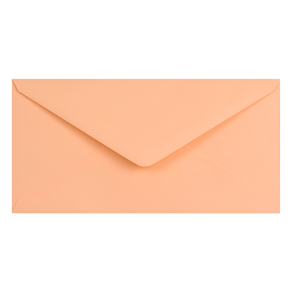 Obálky DL obyčajné / 5 ks - lososová