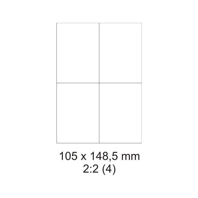 Etikety PRINT biele - 105 x 148 mm - (30 hár)