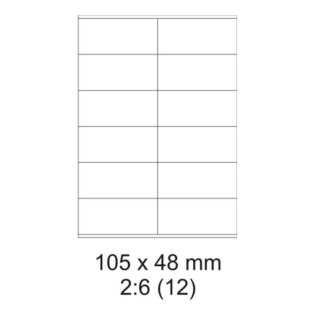 Etikety PRINT biele - 105 x 48 mm - (30 hár)