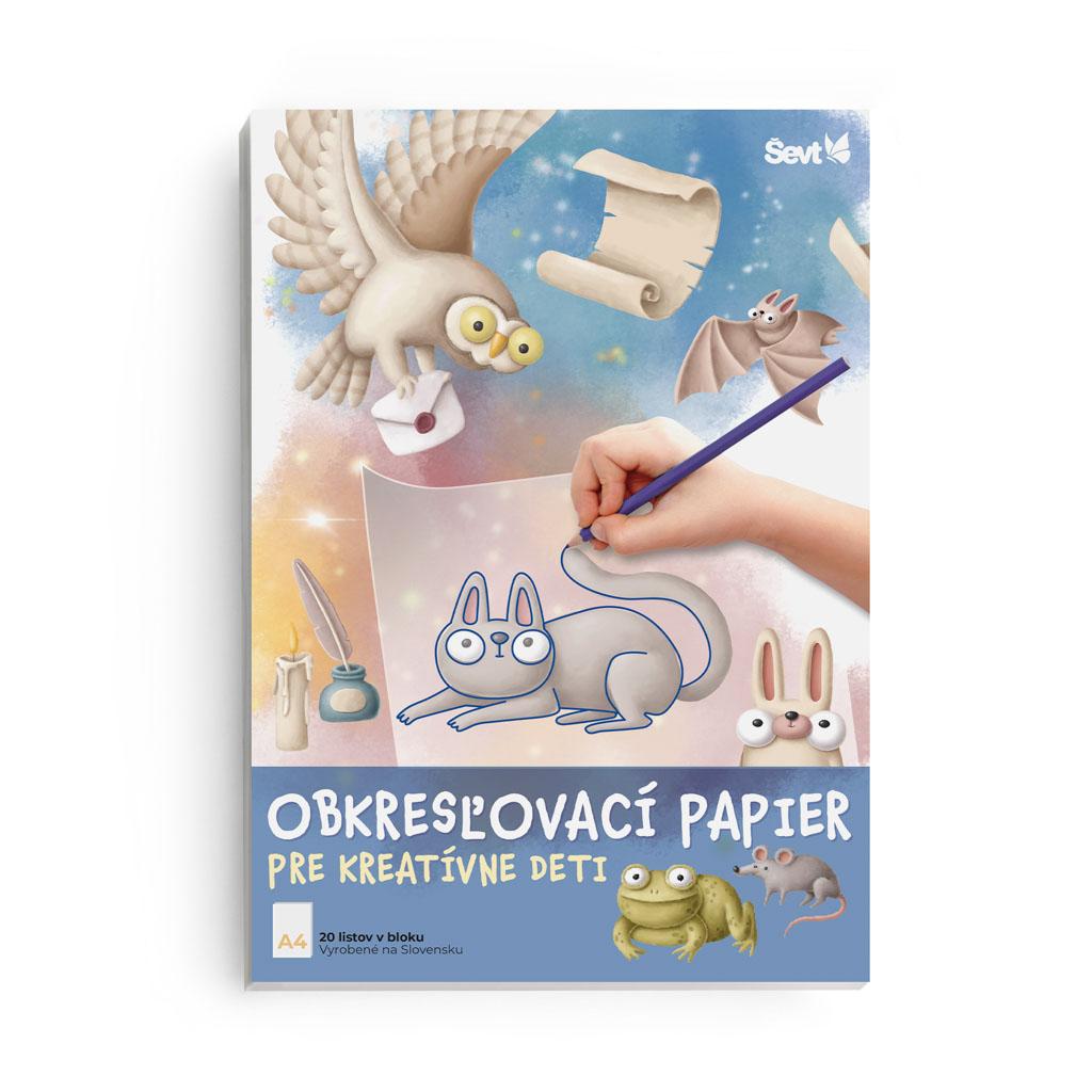 Obkresľovací papier A4 90g, 20 listový blok (pre kreatívne deti)