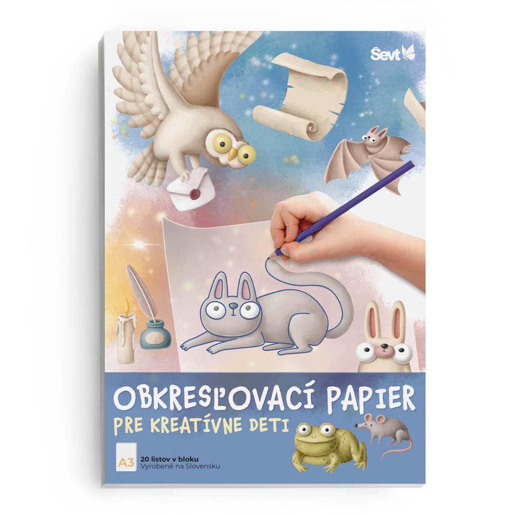 Obkresľovací papier A3 90g, 20 listový blok (pre kreatívne deti)