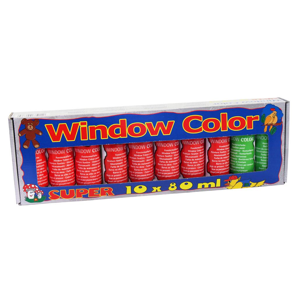 Farby na okná / 10 ks