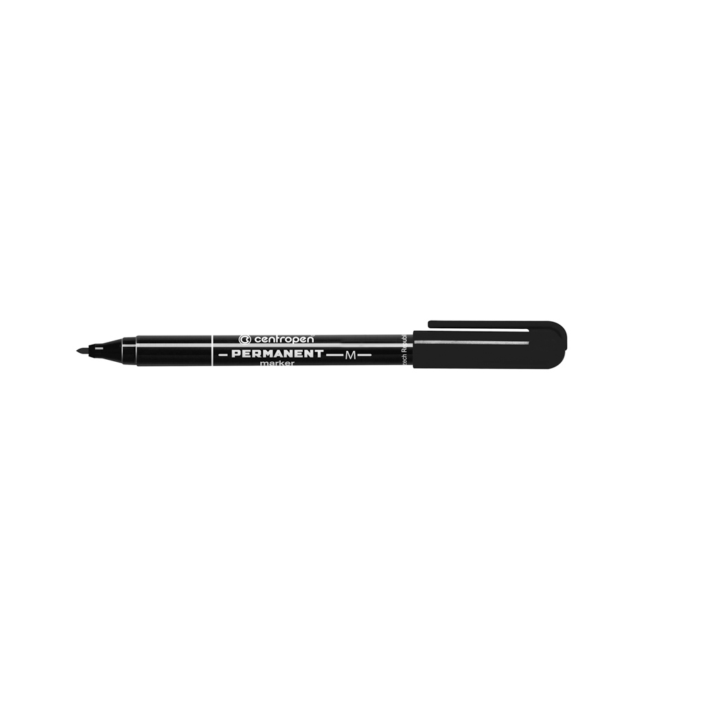 Centropen Popisovač permanent 2846, okrúhly hrot 1 mm, čierny