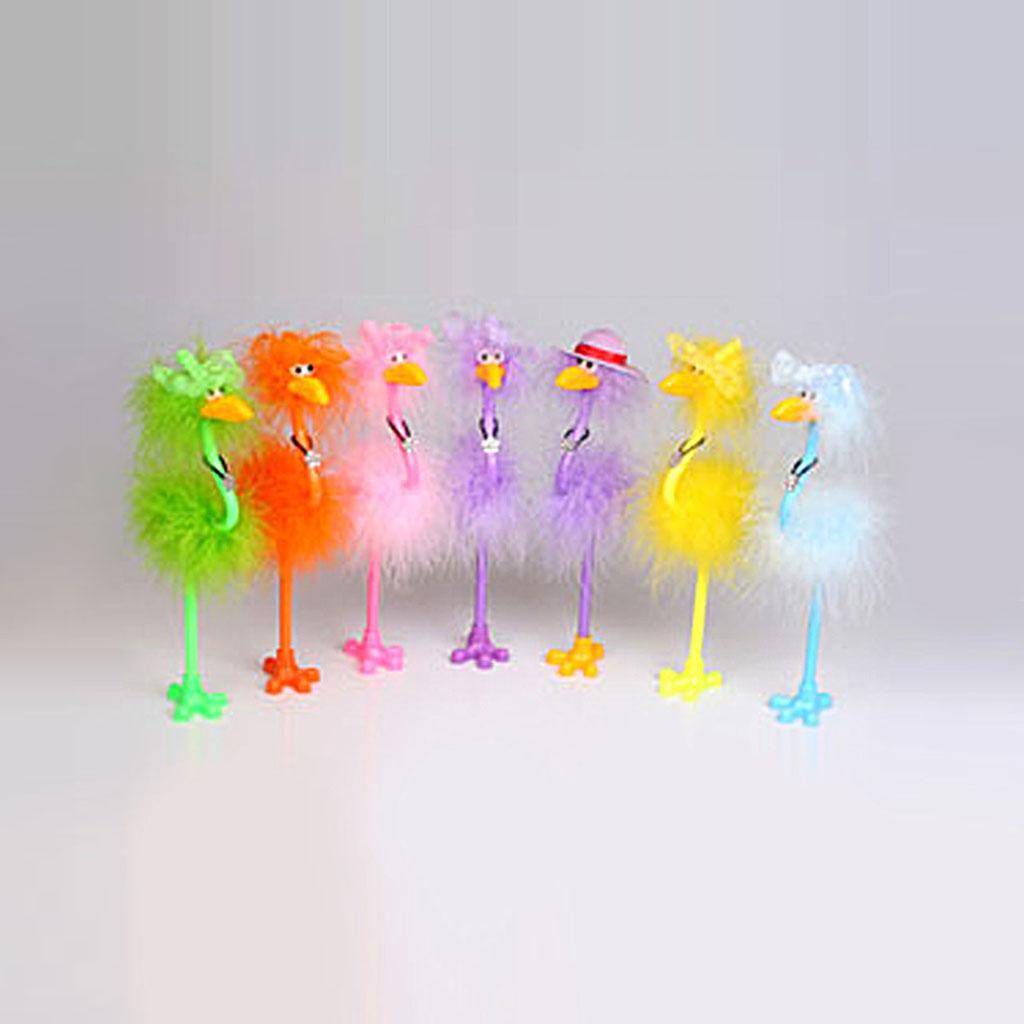 Guľôčkové pero Flamingo, modrá náplň, mix farieb