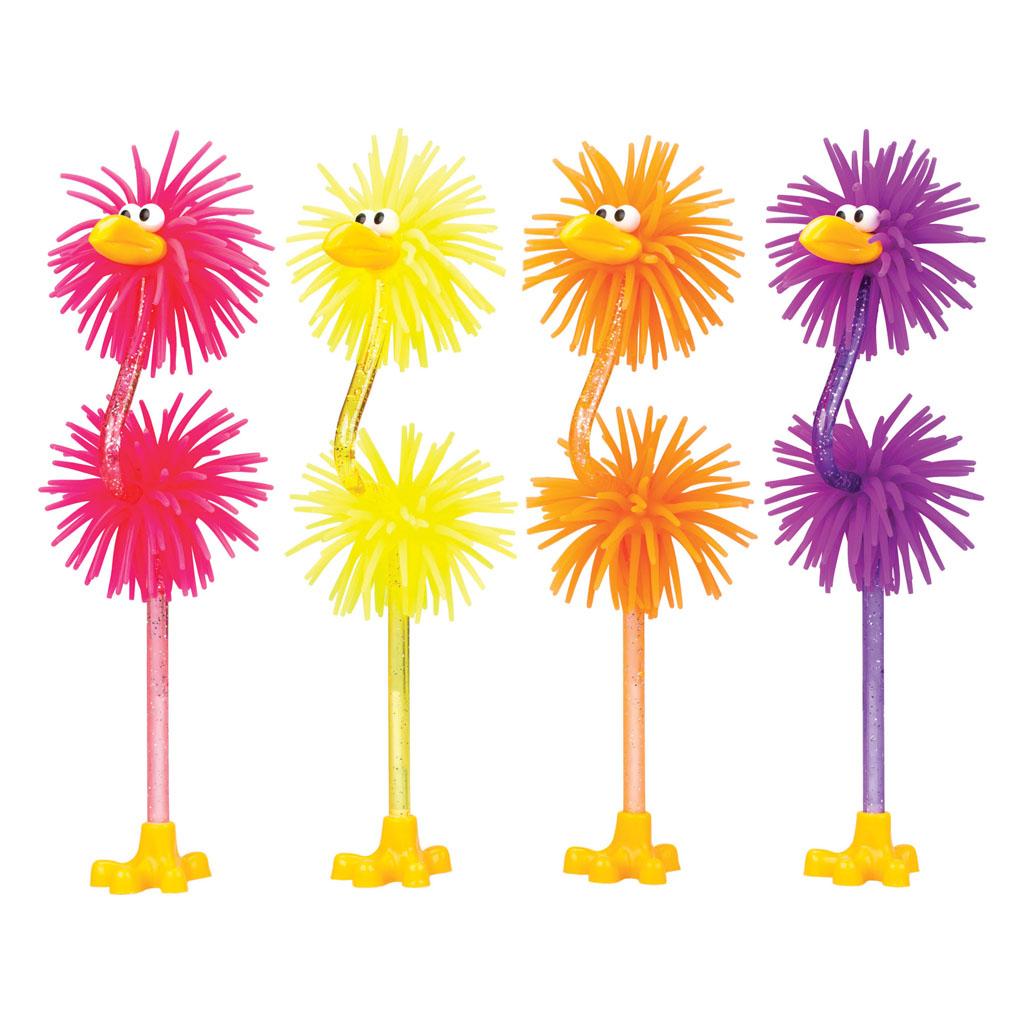 Guľôčkové pero Flamingo gumené - mix farieb