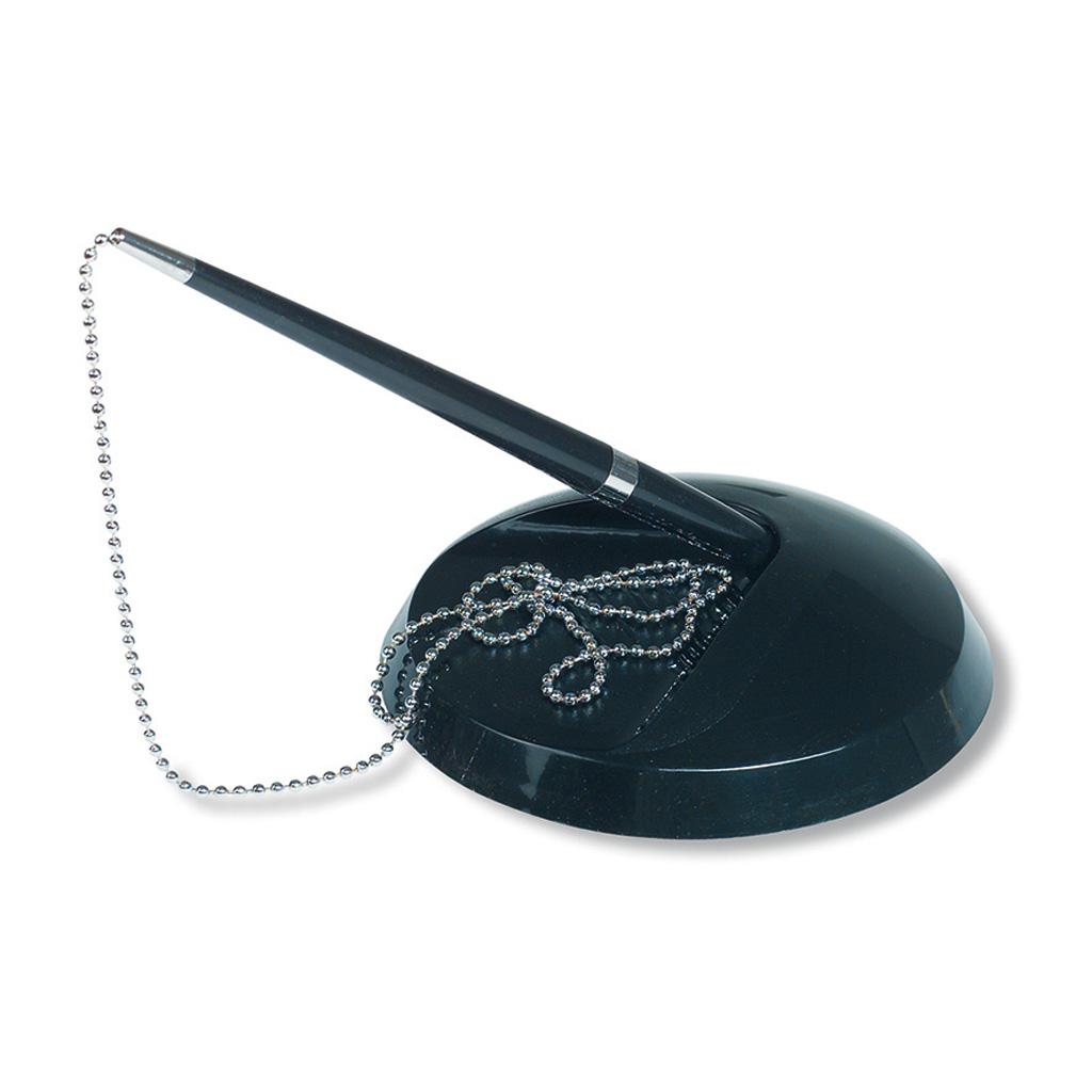 Pero guľôčkové v stojane s kovovou retiazkou