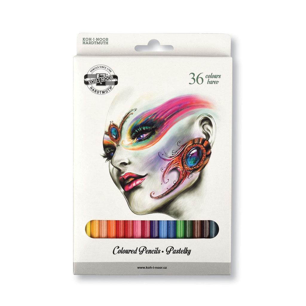 Farbičky pastel. 3555 / 36 ks