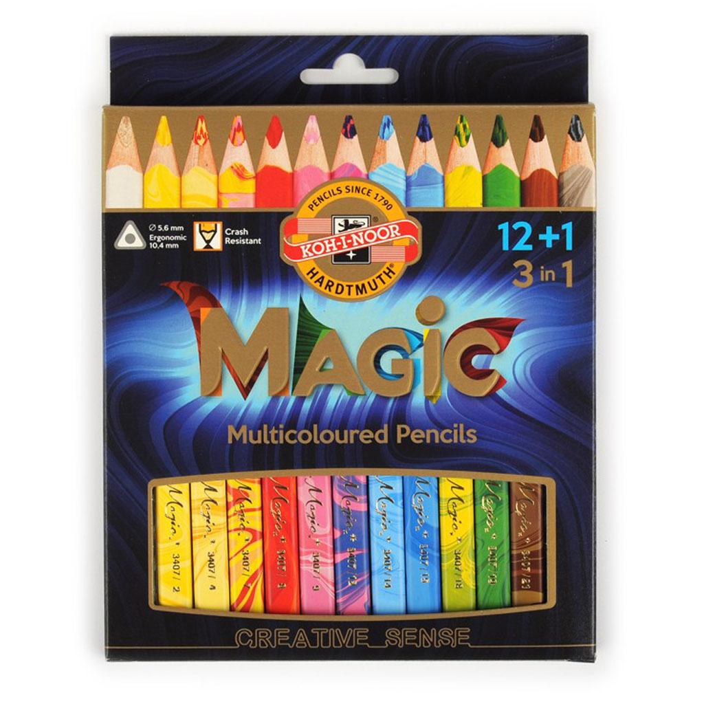 K-I-N Magic farbičky s viacfarebnou tuhou / 12+1 ks