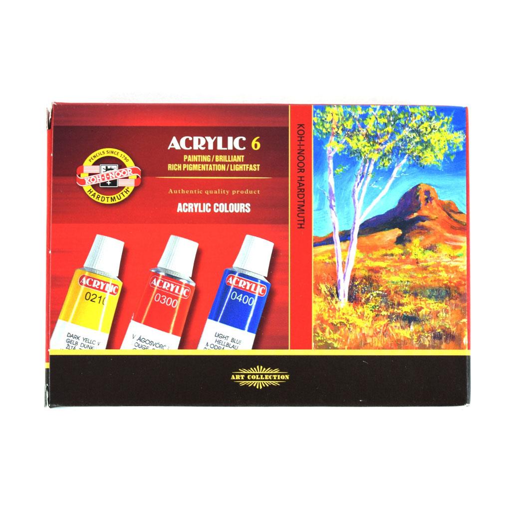 Farby akrylové 162701, 6 x 16ml