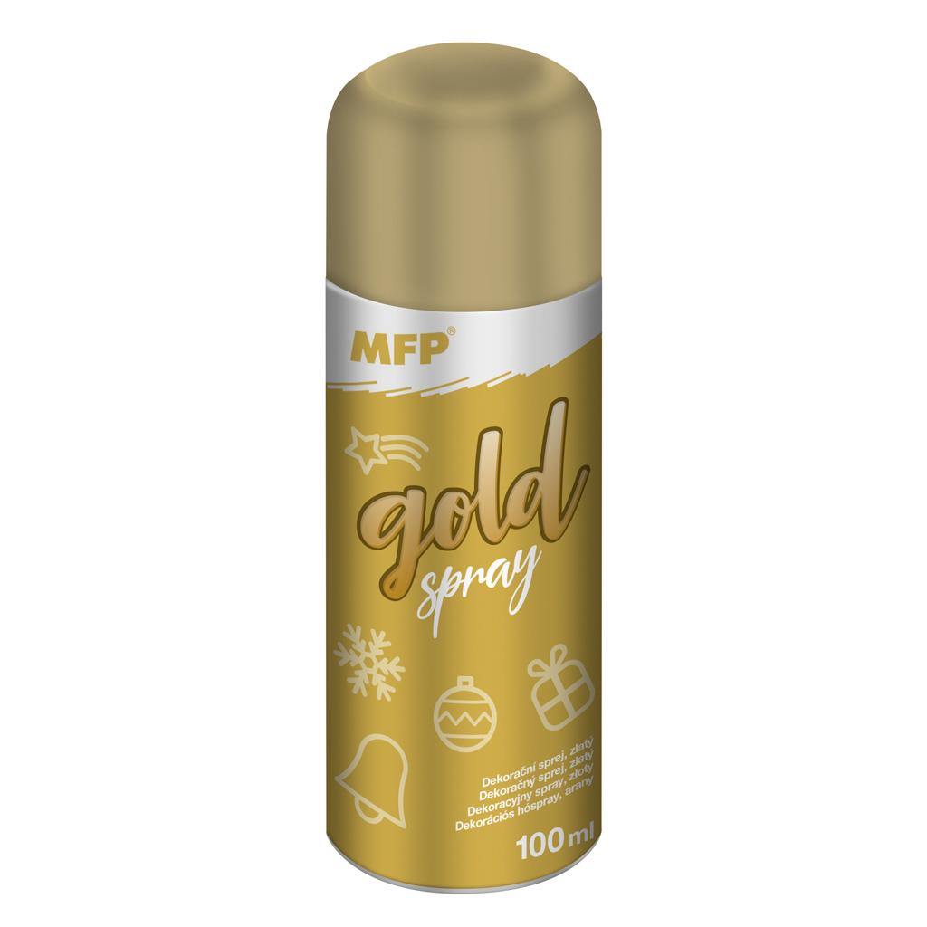 Dekoračný sprej 100 ml -  zlatý