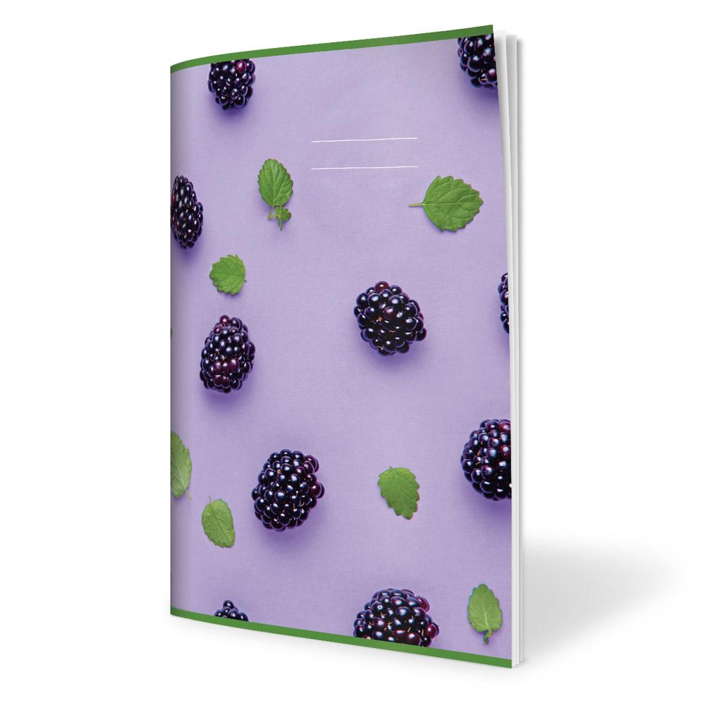 Zošit 540, A5 čistý, 40 l., ovocie - černice 2019