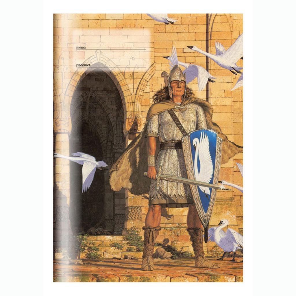Zošit 565, strážca hradu, A5, štvorčekový (5 x 5), 60 l. - umenie