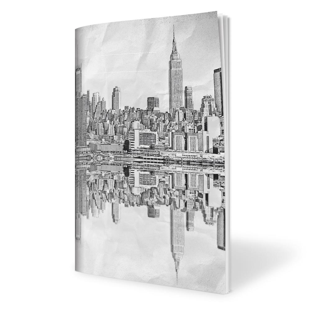 Zošit 565, A5 štvorčekový (5 x 5), 60 l. - New York 2018