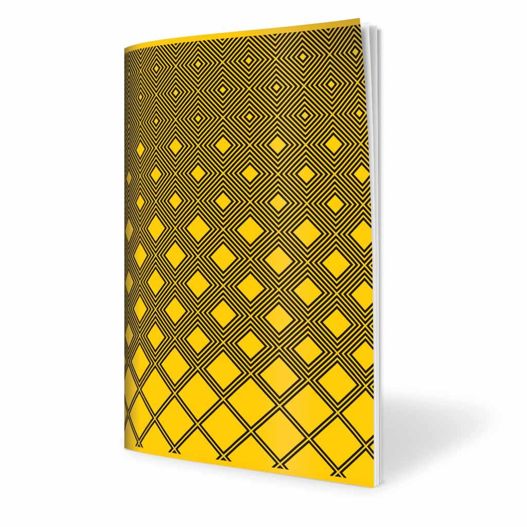Zošit 565, A5 štvorčekový (5 x 5), 60 l., abstrakt - žltý 2019