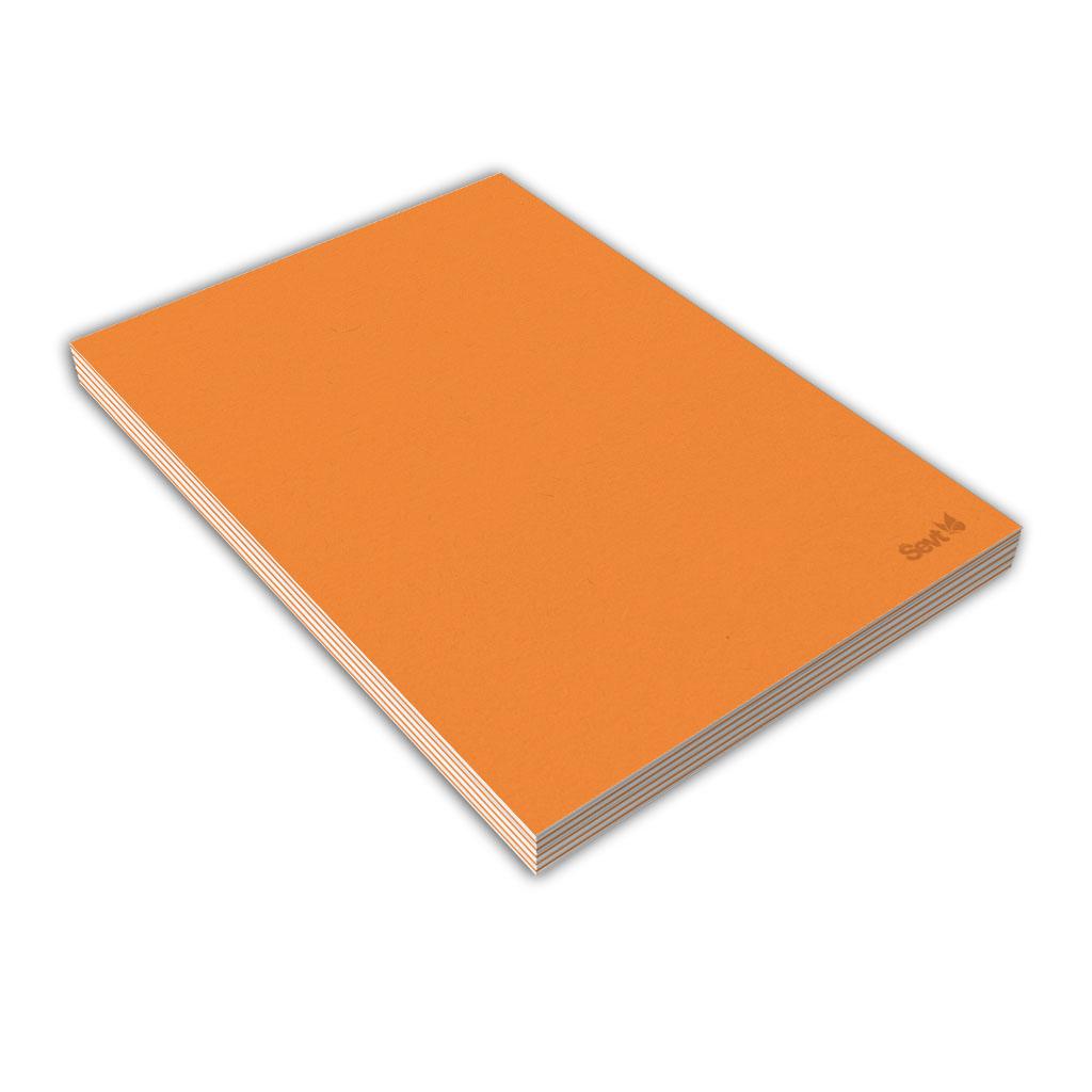 Blok A5 čistý, 80 l., lepený - oranžový