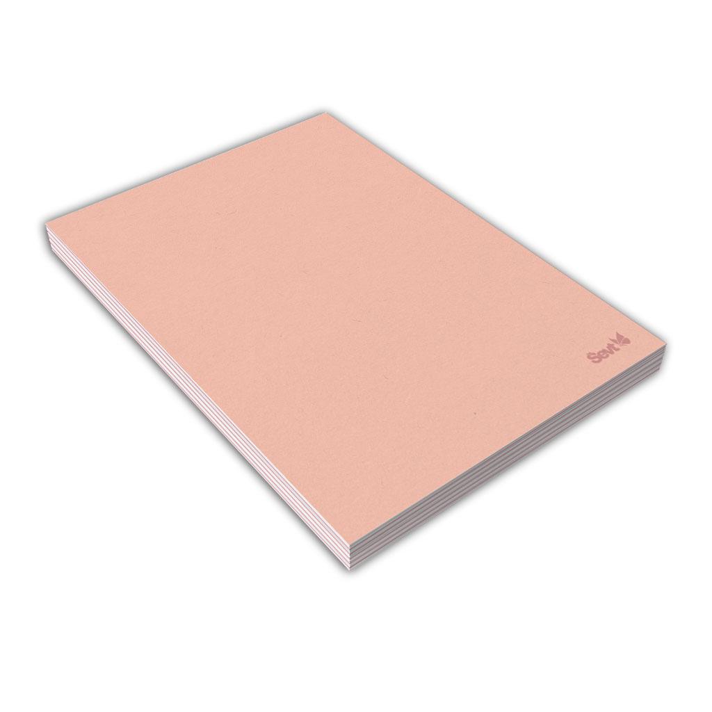 Blok A5 čistý, 80 l., lepený - ružový