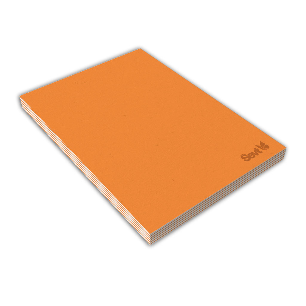 Blok A6 čistý, 80 l., lepený - oranžový