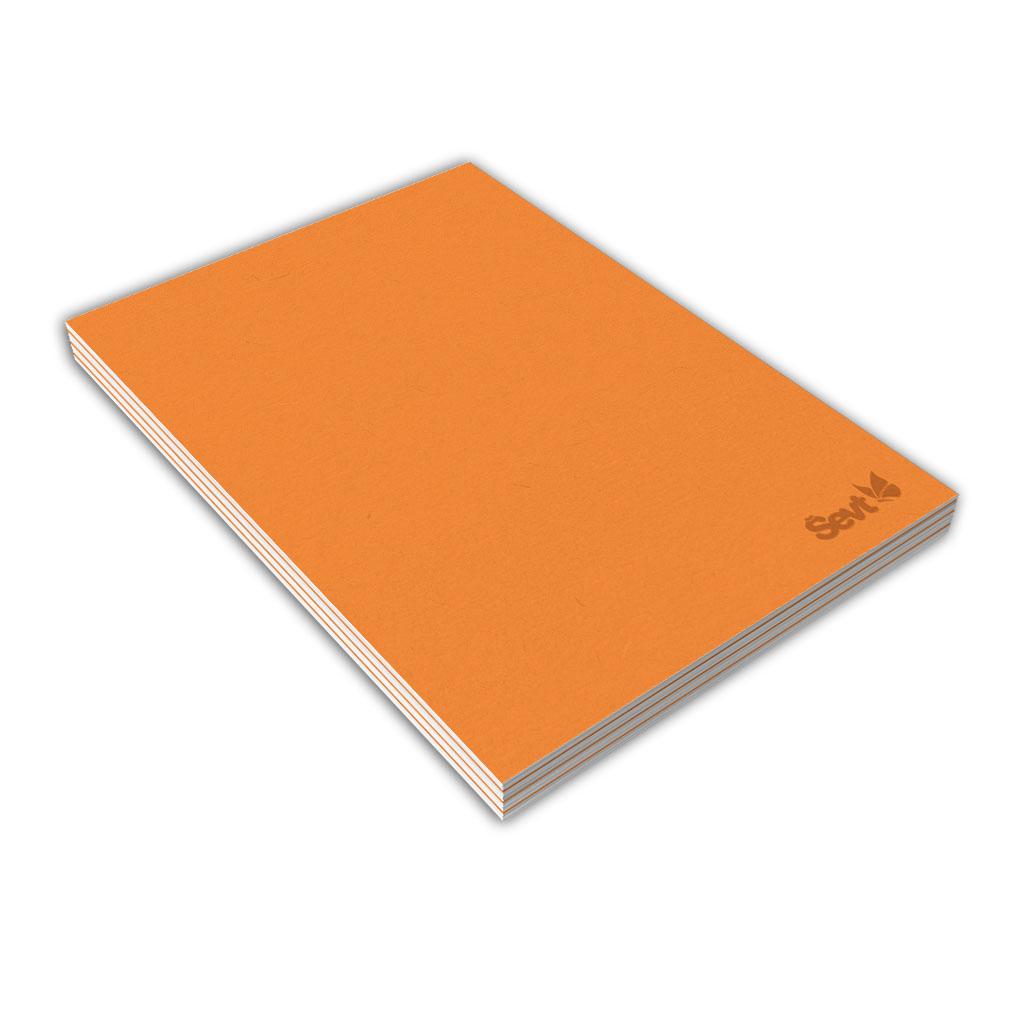 Blok A6 linajkový, 80 l., lepený - oranžový