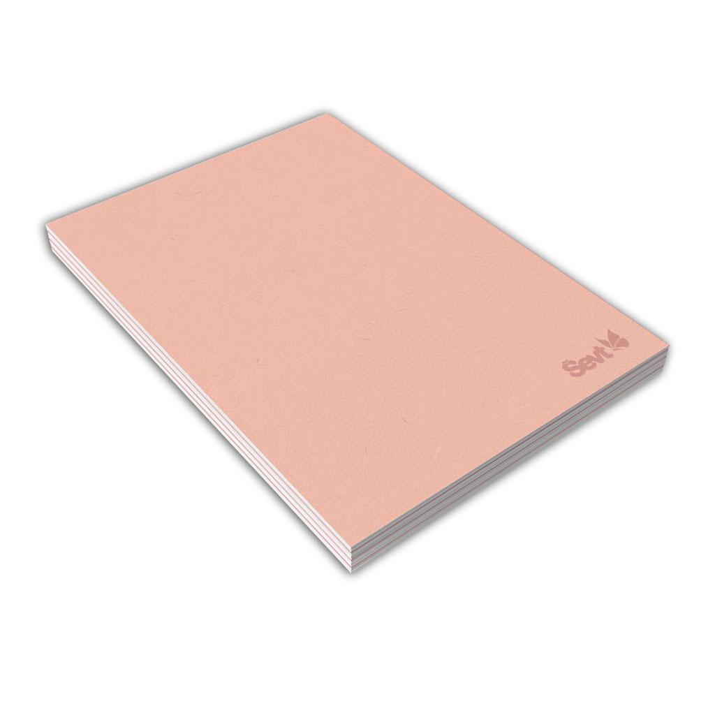 Blok A6 linajkový, 80 l., lepený - ružový