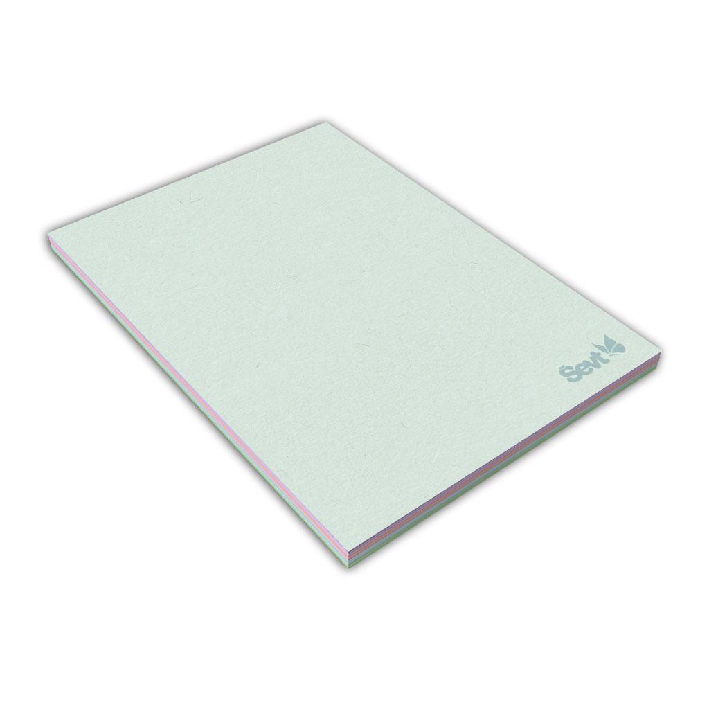 Blok A6 čistý, 50 l., lepený - farebné listy