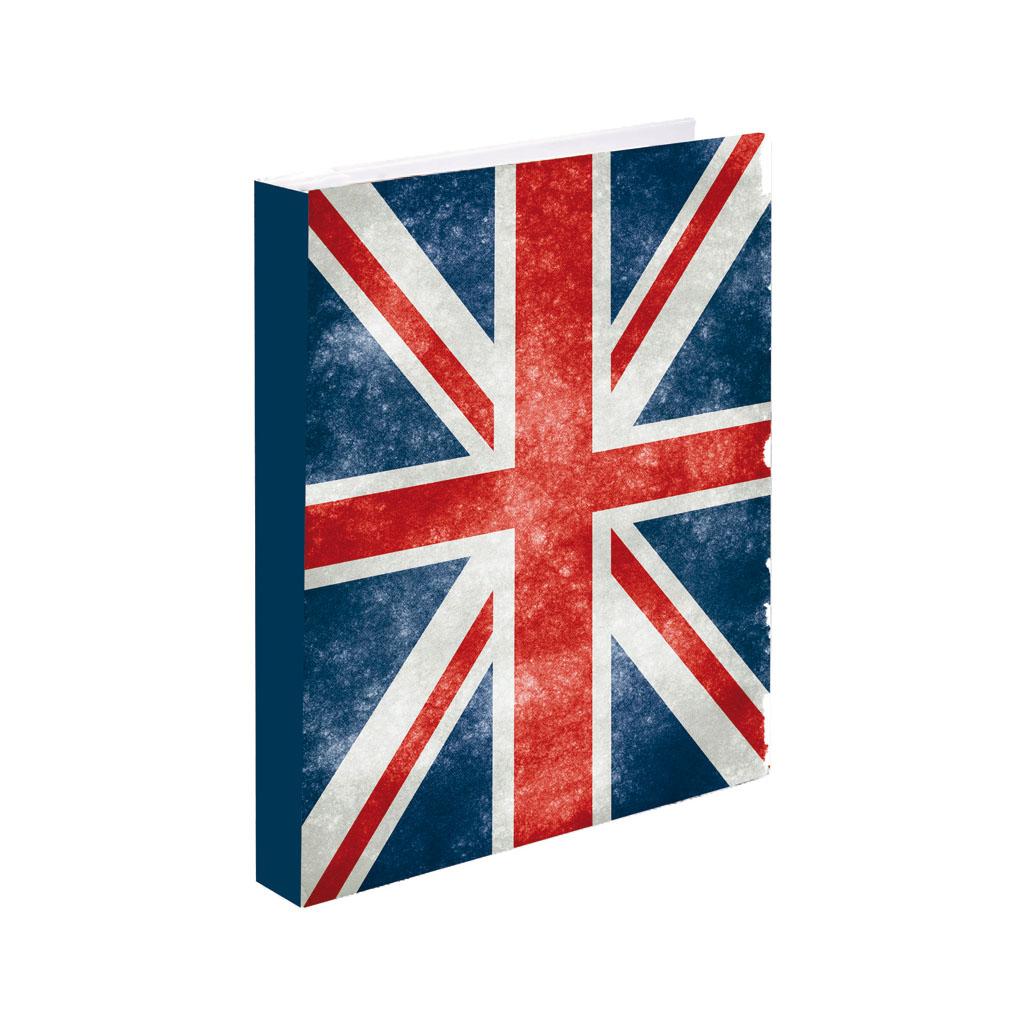 Karisblok 4-krúž., A5, PVC, vlajka UK /5-322/