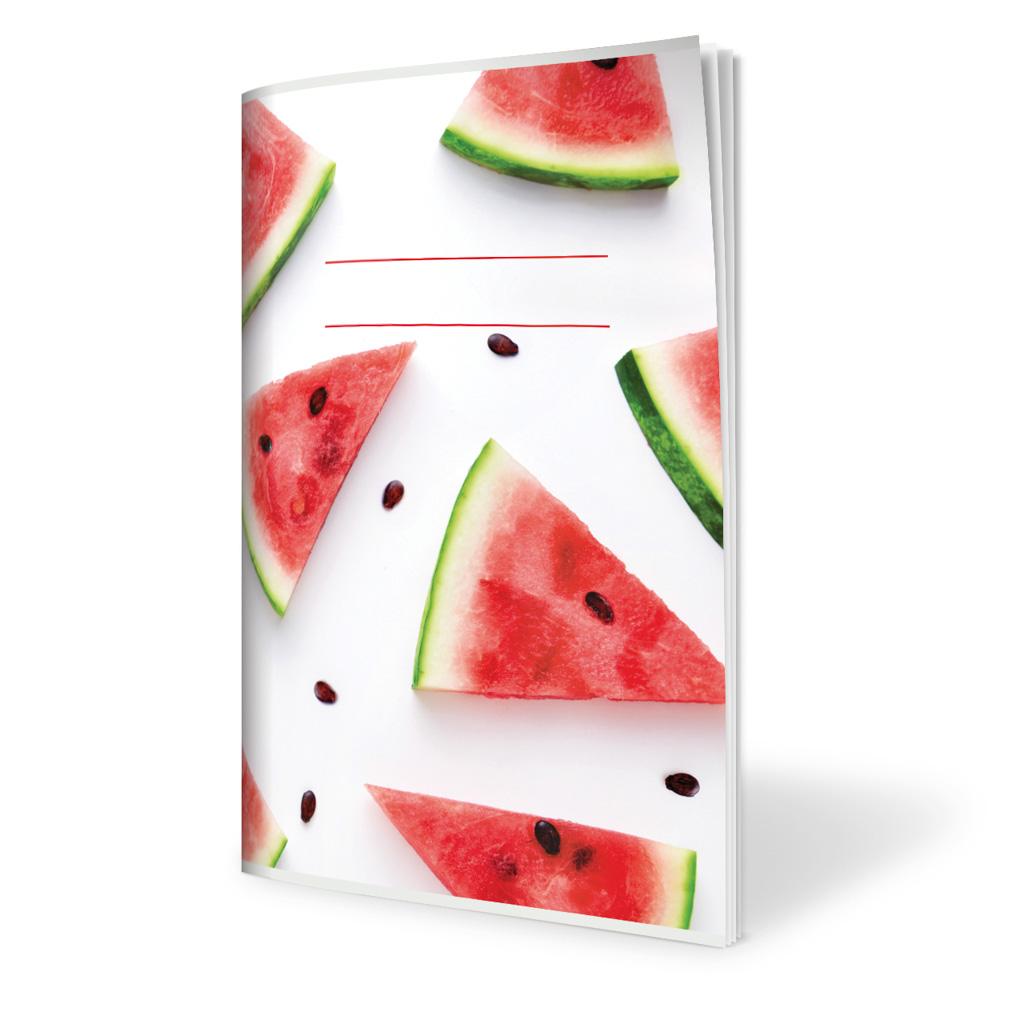 Zošit 624, A6 linajkový (8 mm), 20 l., ovocie - melóny 2019