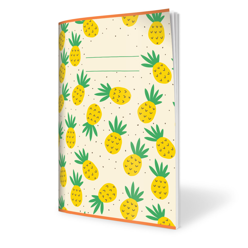 Zošit 523, A5 linajkový (12 mm), 20 l., ovocie - ananás 2019