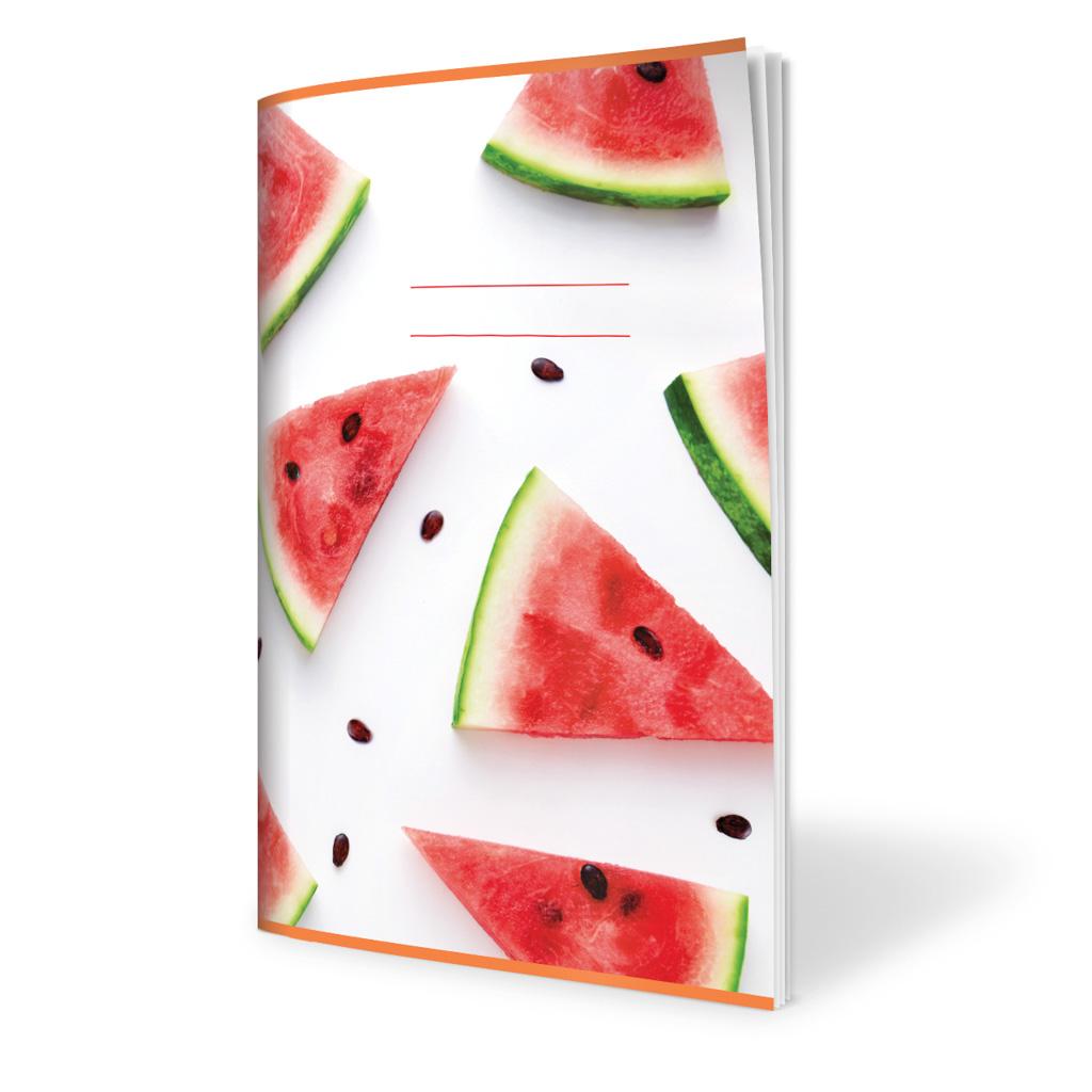 Zošit 524, A5 linajkový (8 mm), 20 l., ovocie - melóny 2019