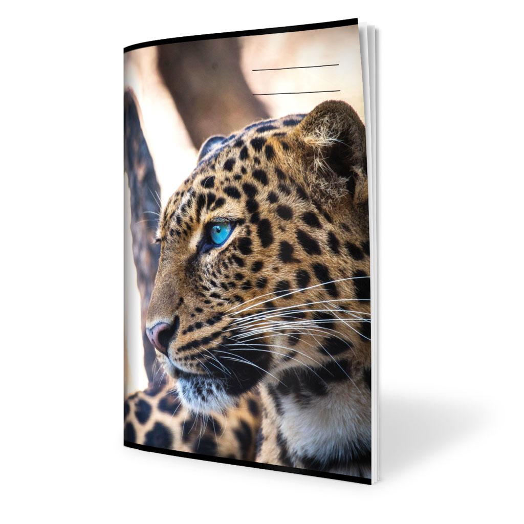 Zošit 524, A5 linajkový (8 mm), 20 l., zviera - leopard 2019