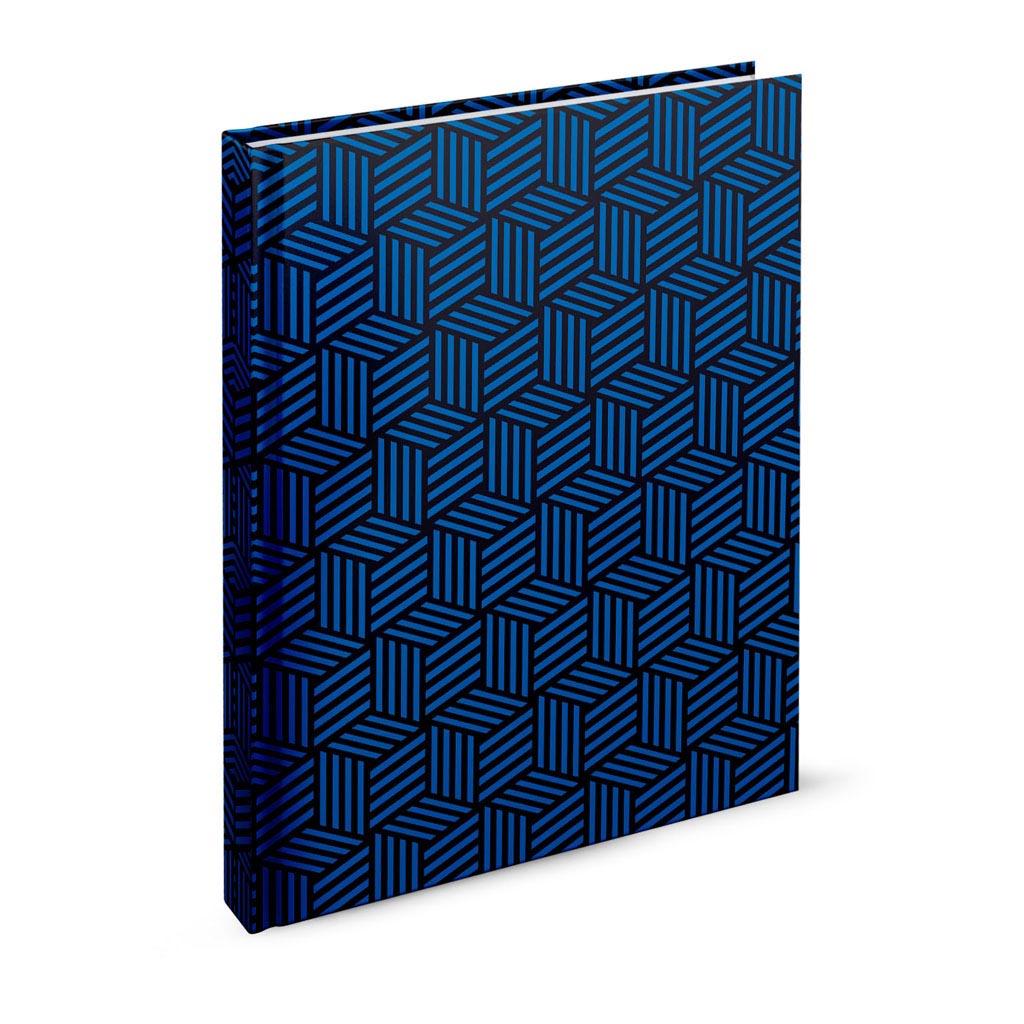 Záznamová kniha A4 linajková, 144 l., Abstrakt tmavomodrý