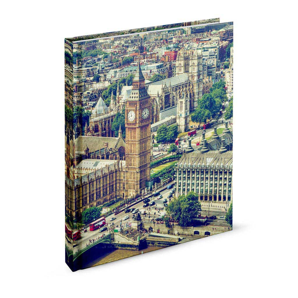 Záznamová kniha A5 linajková, 144 l., Londýn