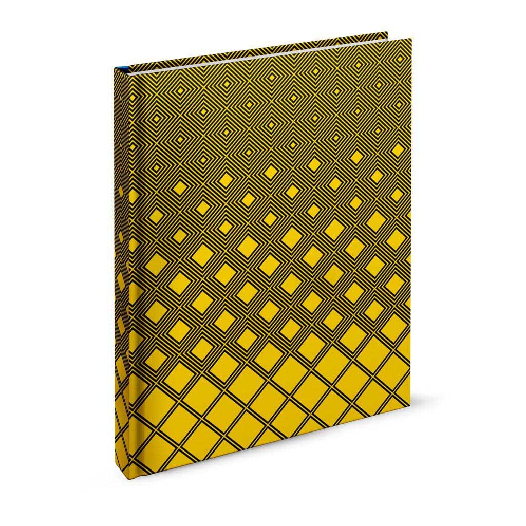 Záznamová kniha A6 linajková,  96 l.,  abstrakt žltý