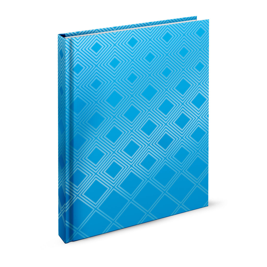 Záznamová kniha A6 linajková,  96 l.,  abstrakt tyrkysový