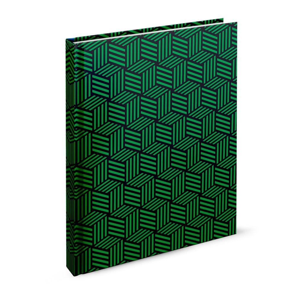 Záznamová kniha, A4 linajková, 200 l., abstrakt zelený