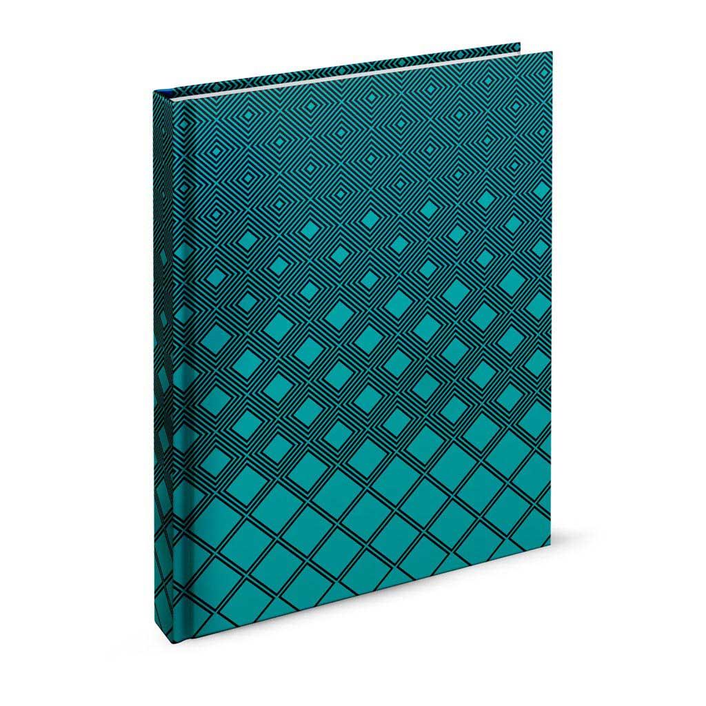 Záznamová kniha, A4 linajková, 200 l., abstrakt tyrkysový 1