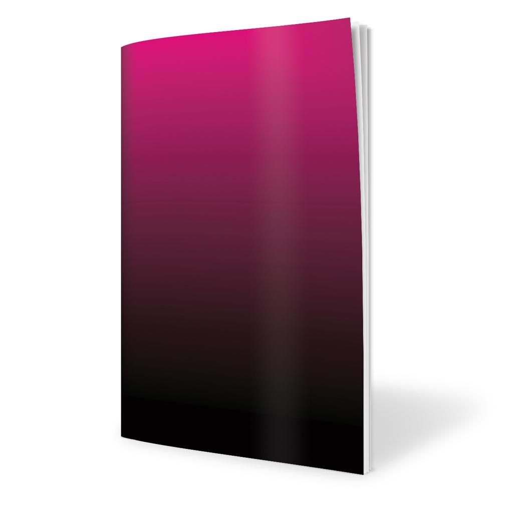 Zošit 480, A4 čistý, 80 l. - farebný preliv ružový