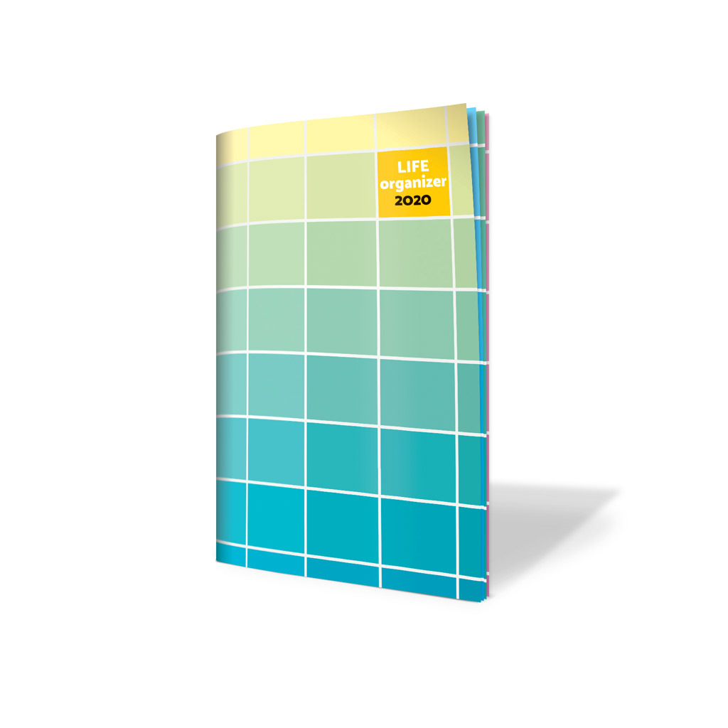 Life organizér 2020 - Farebný gradient