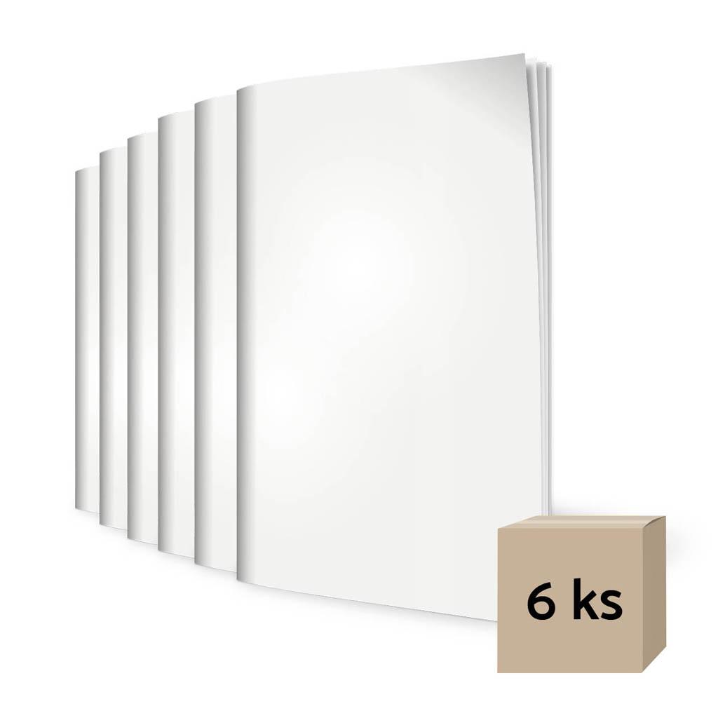 Sada zošitov 444, A4 linajkový (8 mm), 40 l. +  440, A4 čistý, 40 l. - bianco/ 4 + 2 ks