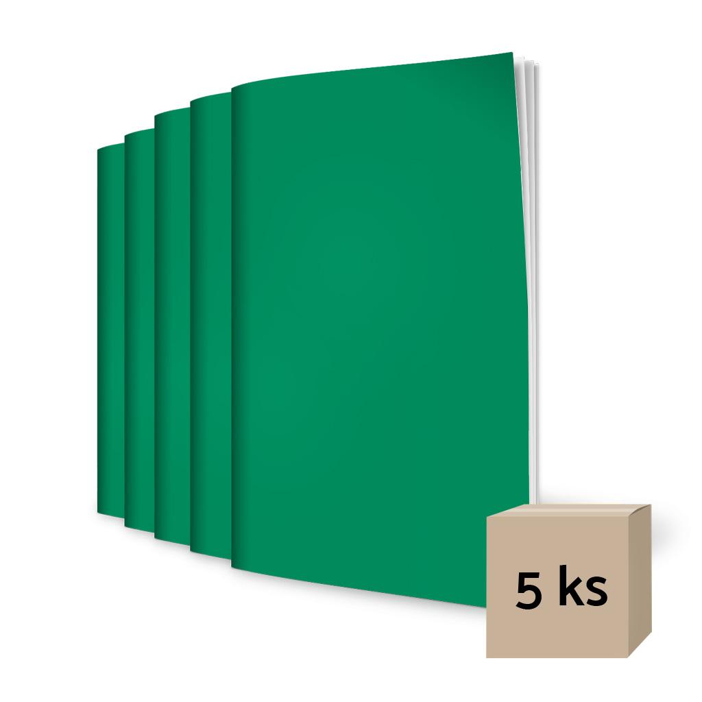 Zošit 440, A4, čistý, 40 l. - zelený / 5 ks