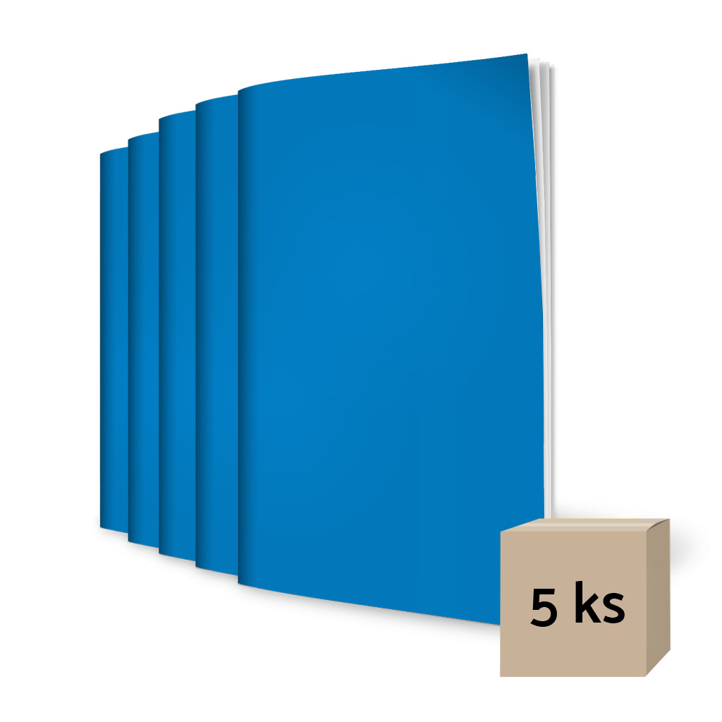 Zošit 444, A4, linajkový (8 mm), 40 l. - modrý / 5 ks