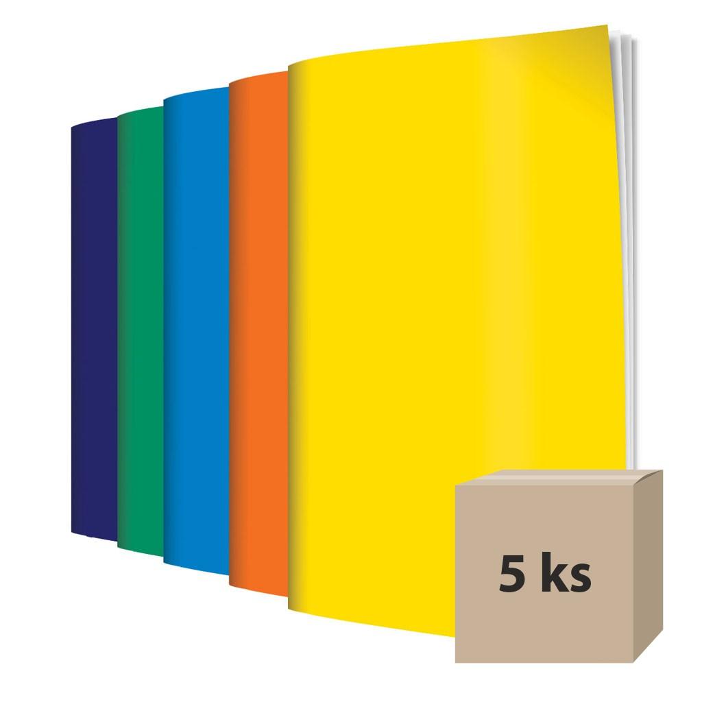 Zošit 560, A5, čistý, 60 l., mix farebná obálka/ 5 ks