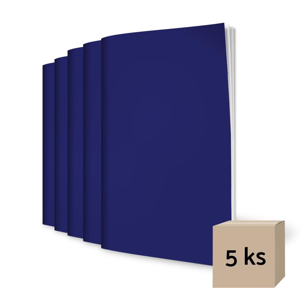 Zošit 564, A5, linajkový (8 mm), 60 l. - tmavomodrý / 5 ks