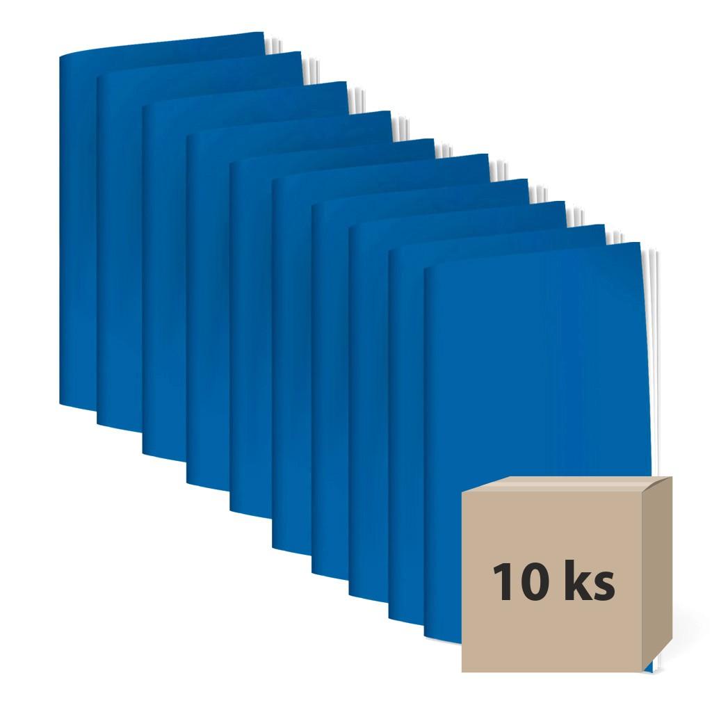 Zošit 560, A5, čistý, 60l., reflexný modrý / 10 ks
