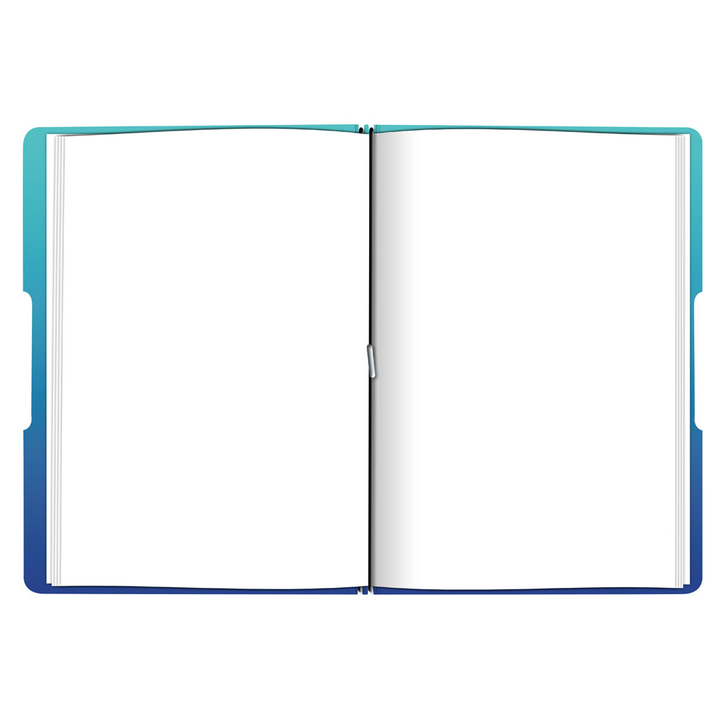 Obal s gumičkou A4 + 2x náplň - gradient modrý