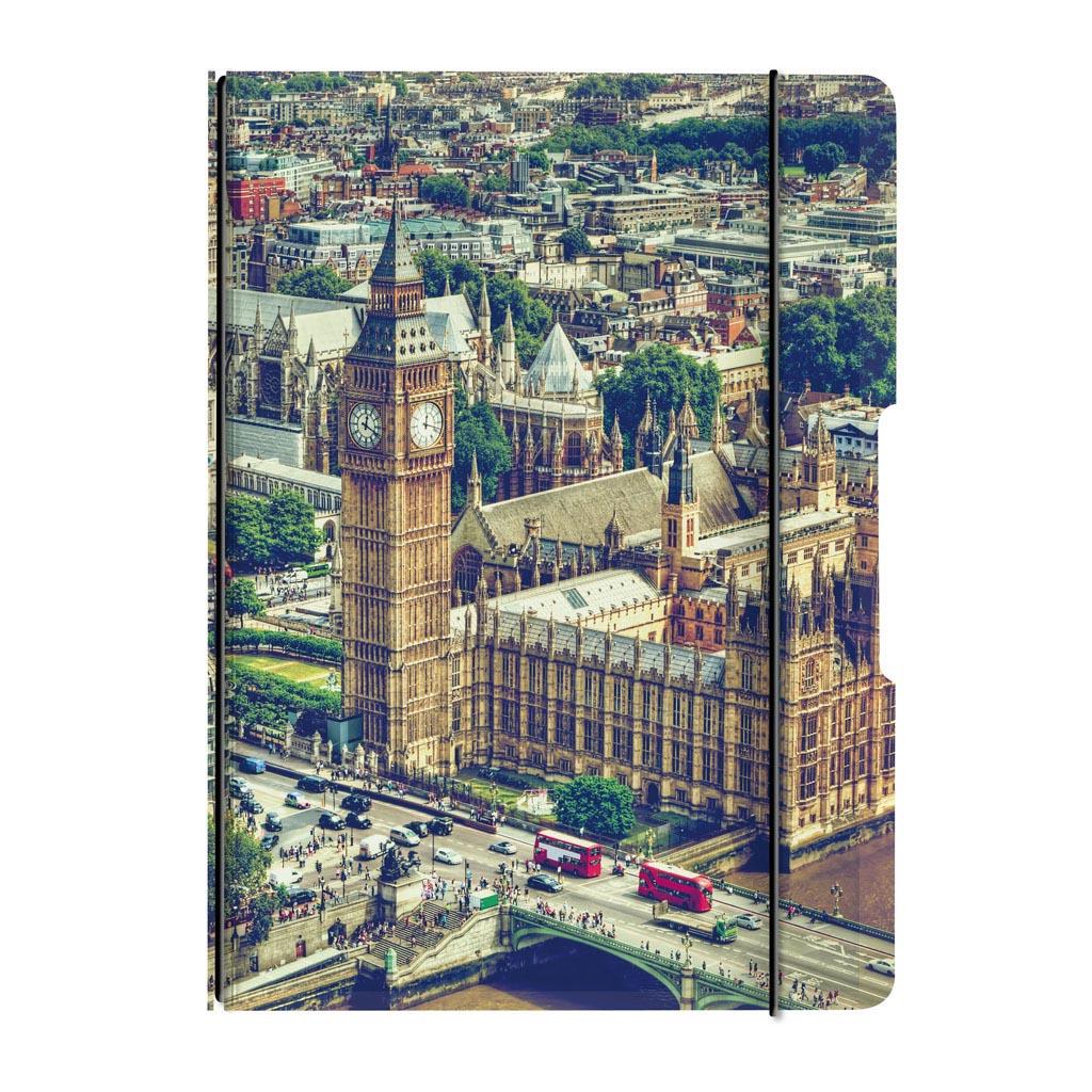 Obal s gumičkou A5 + 1x náplň - Londýn